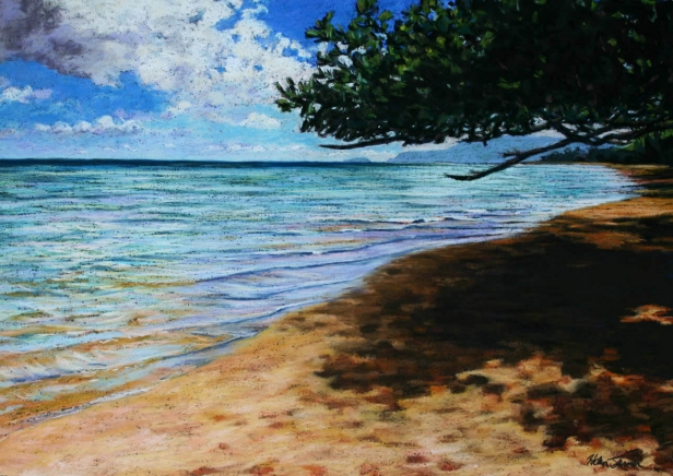 Anini Color, pastel painting by Kauai artist Helen Turner