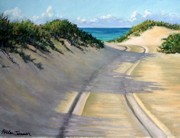 Dunes and Shadows, pastel painting by Kauai artist Helen Turner