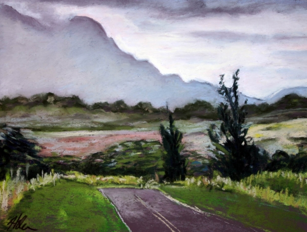 Kipu Rd 2, pastel artwork by Kauai artist Helen Turner
