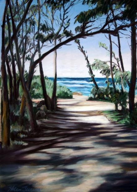 Quot Path To The Sea Quot Painting By Helen Turner Kauai Artist