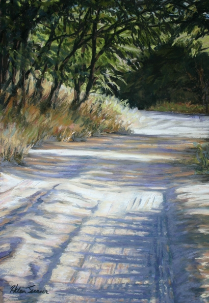 Sandy Path, pastel painting by Kauai artist Helen Turner