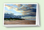 Beaches art greeting card set