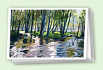 Trees greeting card set